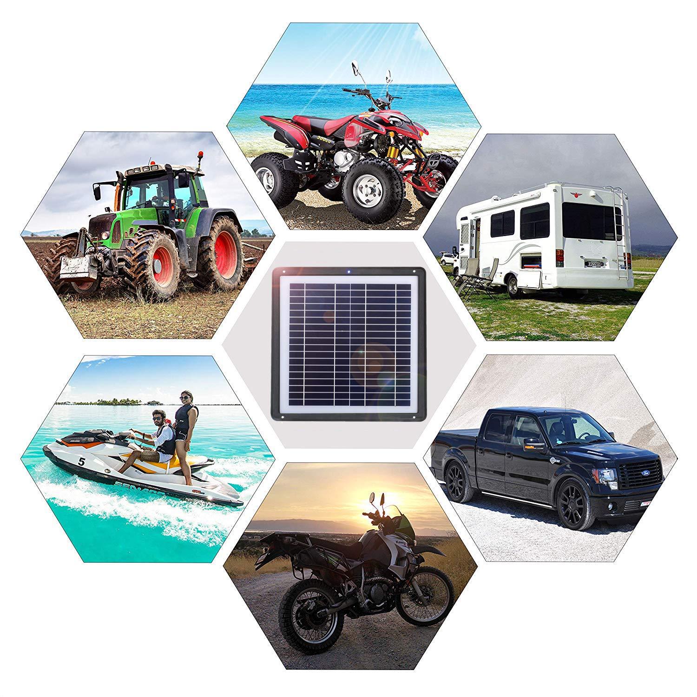 Snowmobile Marine SARONIC Cargador de bater/ía de Coche de 15 W y 12 V con m/ódulo de Clip de bater/ía y ventosas port/átiles y Resistentes al Agua para autom/óviles Barcos Powersports Motocicletas
