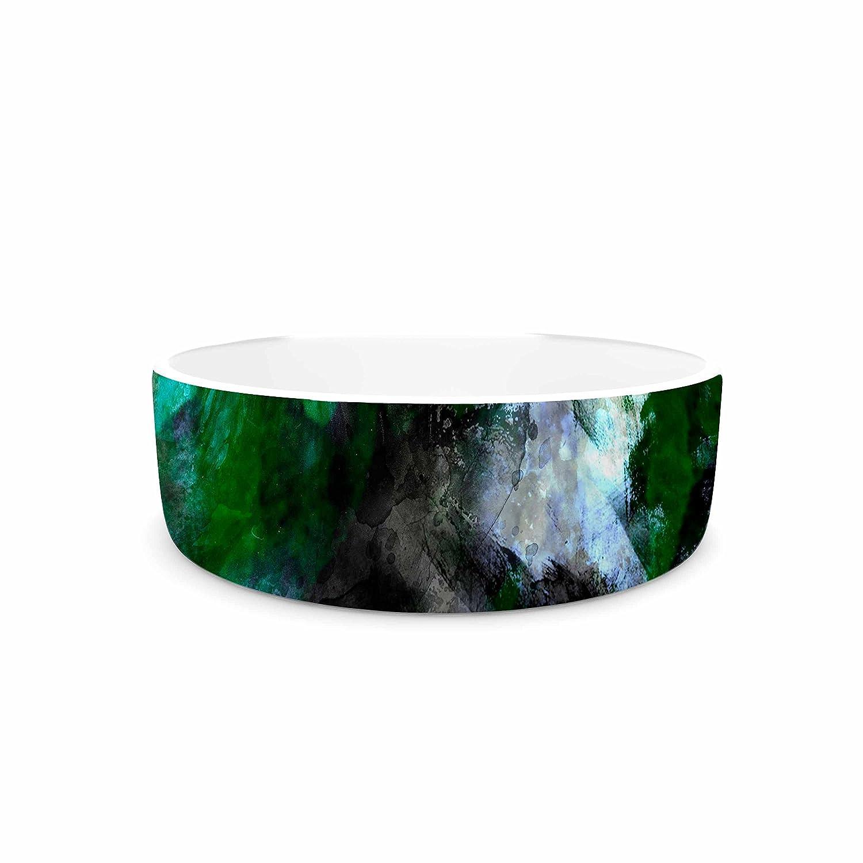 KESS InHouse Shirlei Patricia Muniz Camouflage  Black Green Pet Bowl, 7