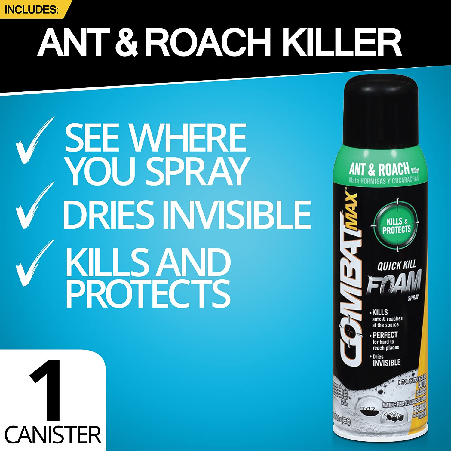 Amazon.com : Combat Max Ant Control Products - Bait, Gel, and Foam ...