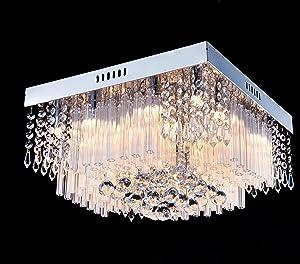 Saint Mossi Chandelier Modern K9 Crystal Raindrop Chandelier Lighting Flush mount LED Ceiling Light
