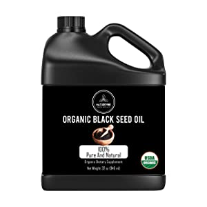 Naturevibe Botanicals Premium Organic Black Seed Oil, 32 ounces | Cold Pressed Nigella Sativa, Thymoquinone | Gluten-Free & Non-GMO
