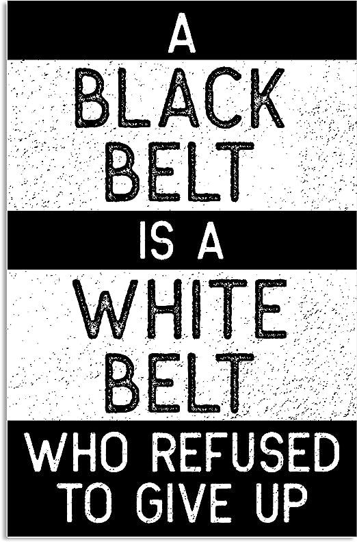 Amazon.com: Cinturón negro es un cinturón blanco Jiu Jitsu ...