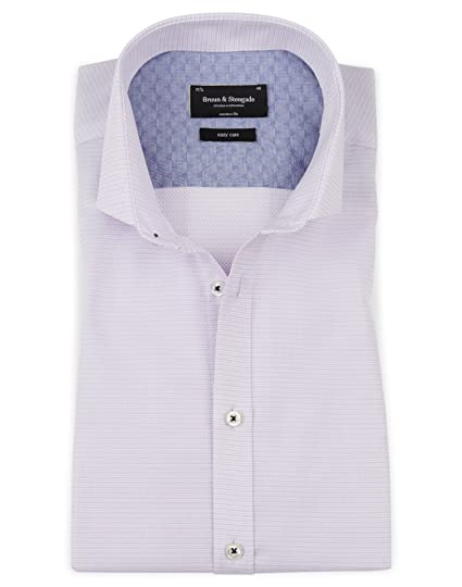 bc55af7f418 Bruun & Stengade Sabata Woven Textured Shirt at Amazon Men's Clothing store: