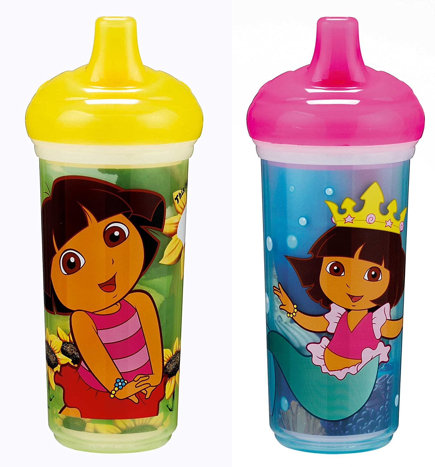 Munchkin Dora the Explorer Click Lock Insulated Sippy Cup 9 Ounce 2-Count