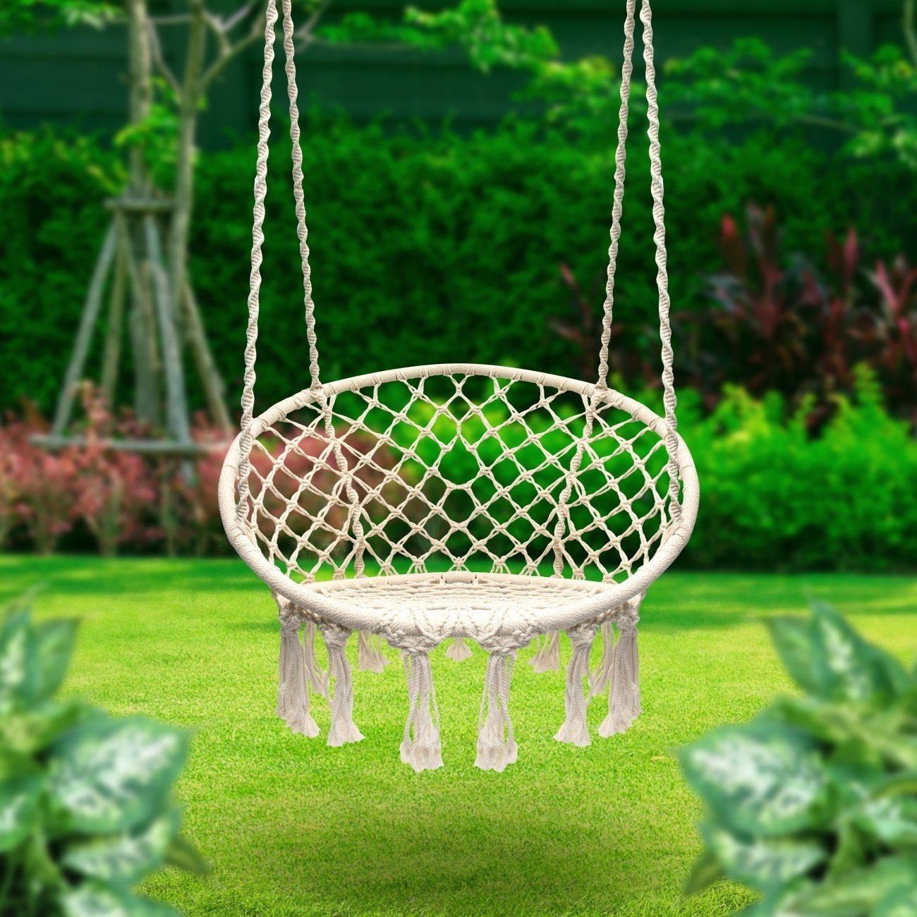 LOVE this Macrame Swing