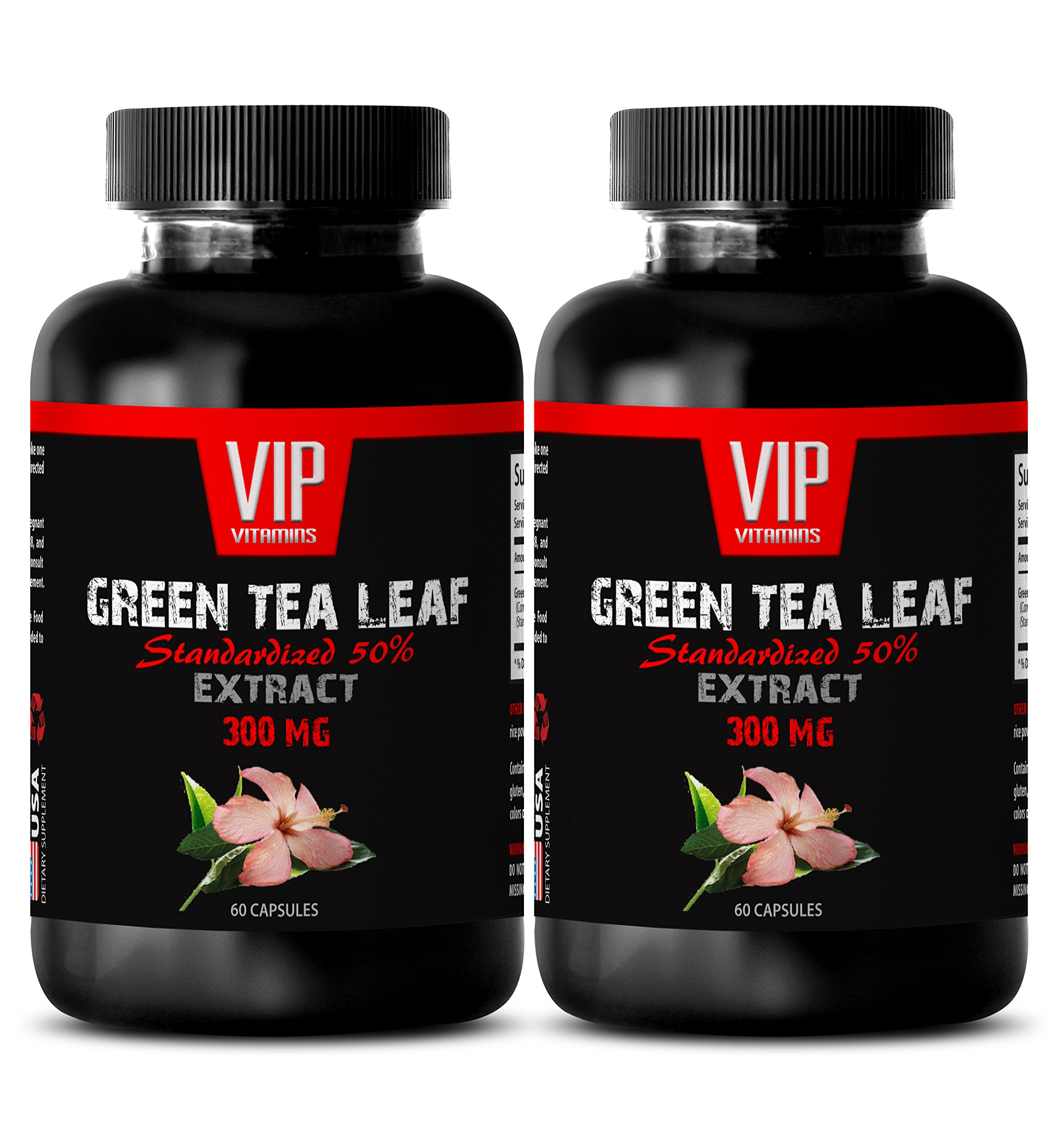 Weight loss vitamins for women - GREEN TEA LEAF EXTRACT - Green tea extract pills for weight loss - 2 Bottles 120 Capsules