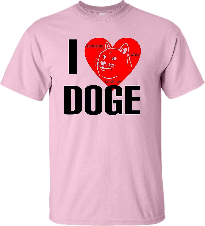 Adultos I Love Doge I corazón Doge WOW increíble camiseta: Amazon.es: Ropa y accesorios