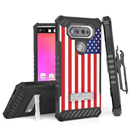 size 40 5f38e 932fe LG V20 Case, PimpCase Durable Hybrid Rugged Full Body Protection Armor  American Flag Phone Cover With Built In Kickstand Card Holder Screen  Protector ...