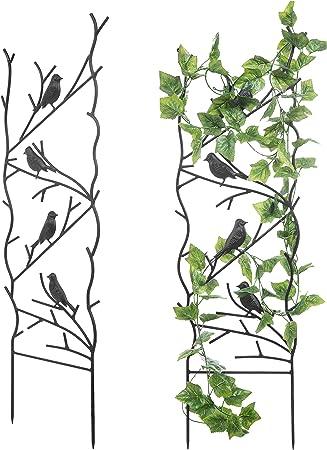 Pack of 2 x Vintage Style Wall Trellis Climbing Plant Support Pot Trellises