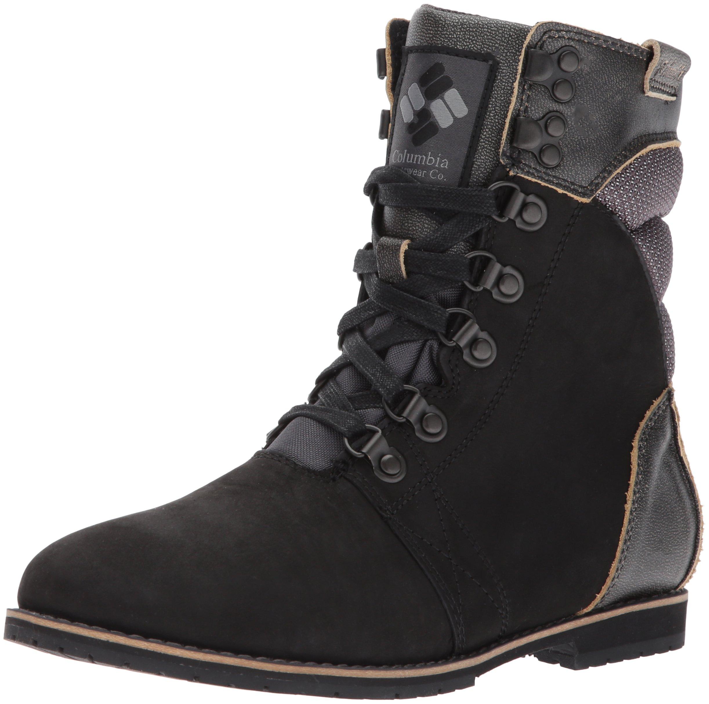 Columbia Women's Twentythird Ave Waterproof Mid Uniform Dress Shoe, Black, Ti Grey Steel, 6.5 B US