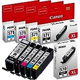 Canon AMACABUNDLE43 - Confezione da 5 cartucce d'inchiostro, colore: nero, giallo, magenta e ciano