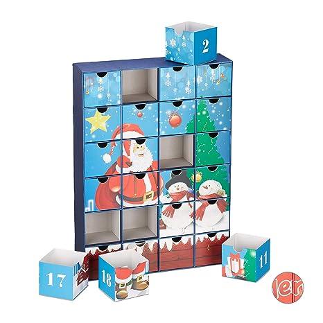 Kinder Weihnachtskalender.Relaxdays Adventskalender Zum Befullen Xxl 24 Boxen
