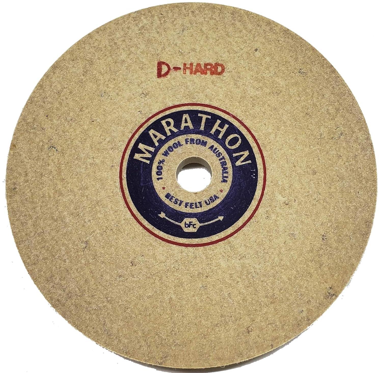 Diamond Hard Density 1//2 Arbor Hole 1//2 Thick Marathon 5 Felt Honing Wheel