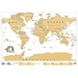 Luckies of London Scratch Original Personalized World Map