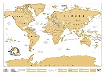 Amazoncom Scratch Map Personalized World Map Designed And Made - Scratch world map us manaufacturuer