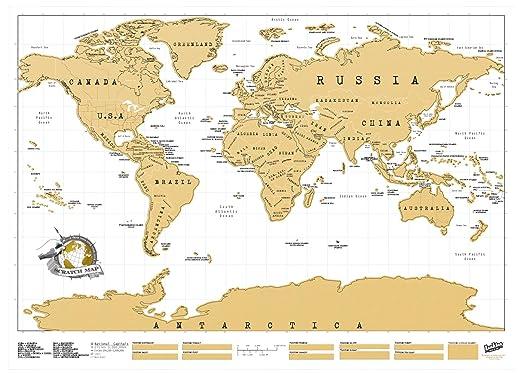 351 opinioni per Luckies Scratch Map, Mappa Multicolore da grattare 82.5 x 59.4 cm