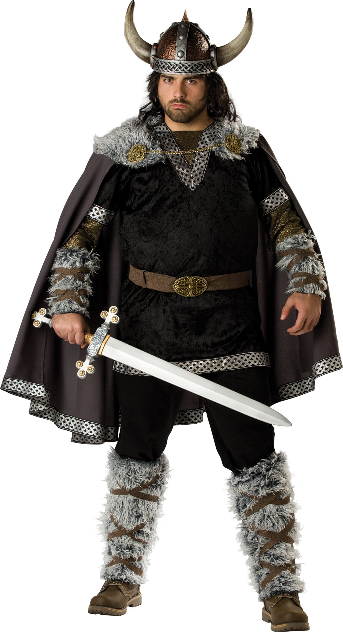 InCharacter Costumes Men's Plus Size Viking Warrior Costume, Black/Gold, XXX-Large
