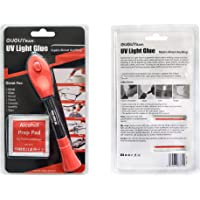 UV Light Glue Kit Clear Adhesive Liquid Plastic Welder 5 Seconds Repair Almost Anything (1 Pack)
