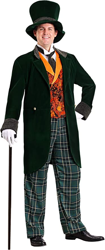 ADULT ALICE IN WONDERLAND DARK MAD HATTER COSTUME SIZE XL missing pants