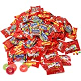 Assorted Bulk 5.49 Lb Starbursts Skittles Lifesavers Big Ring Gummies Skittles Candy Holiday Gifts Candies 180+ Pcs (88 Oz)
