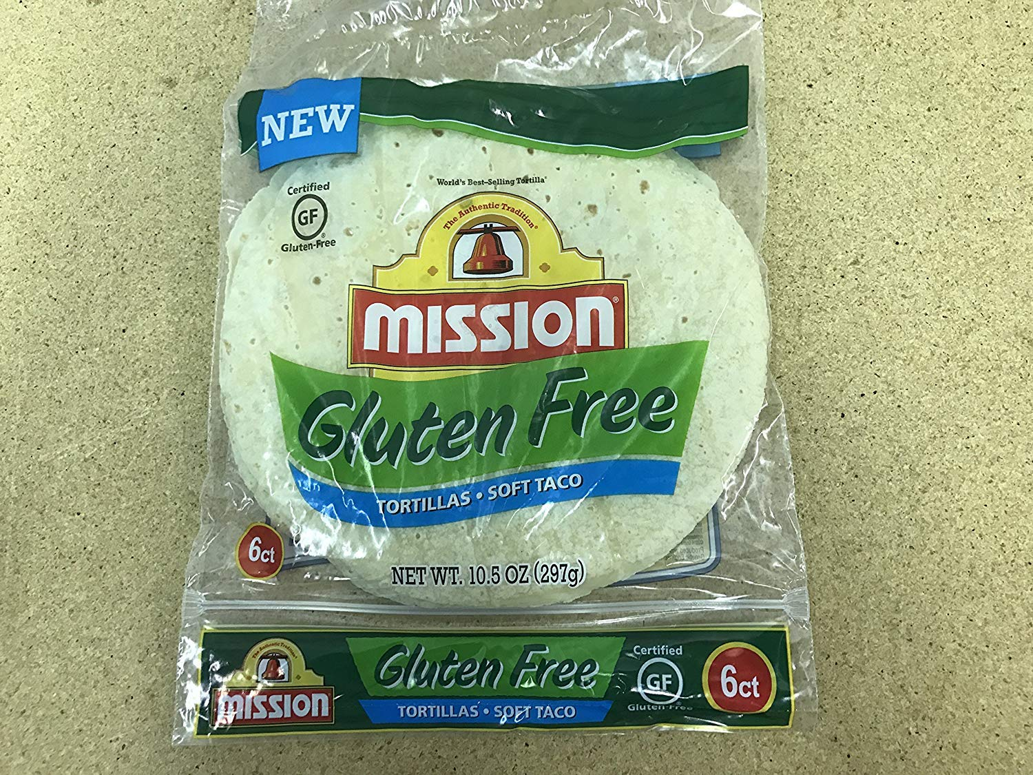 Mission Gluten Free Soft Taco Tortillas 10.5 Oz. / 6ct (Pack of 6) by MISSION