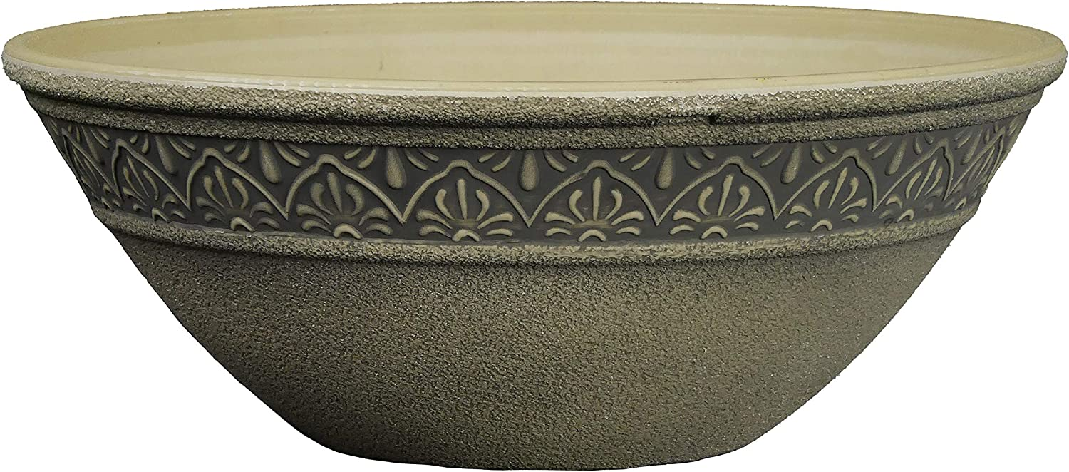 "Classic Home and Garden Moroccan Bowl planters, 10"", Ivory Ash"