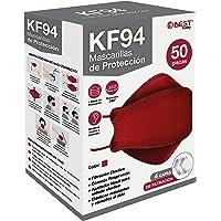 Best Trading 50 Cubrebocas KF94 Ligero y Certificado, Tapabocas con 4 Capas de Protección contra Partículas, Ajustador…