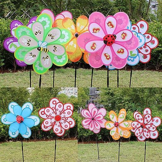 Lamdoo Colorido DIY Molinillo de Viento Spinner hogar jardín Yard decoración de Fiesta niños Juguete: Amazon.es: Hogar