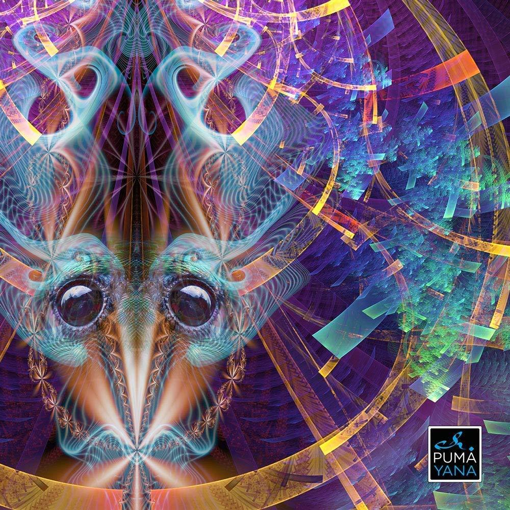 Art Print Mandala Visionary Art Mystical Art Abstract wall art Circle Divine Psychedelic Art Print