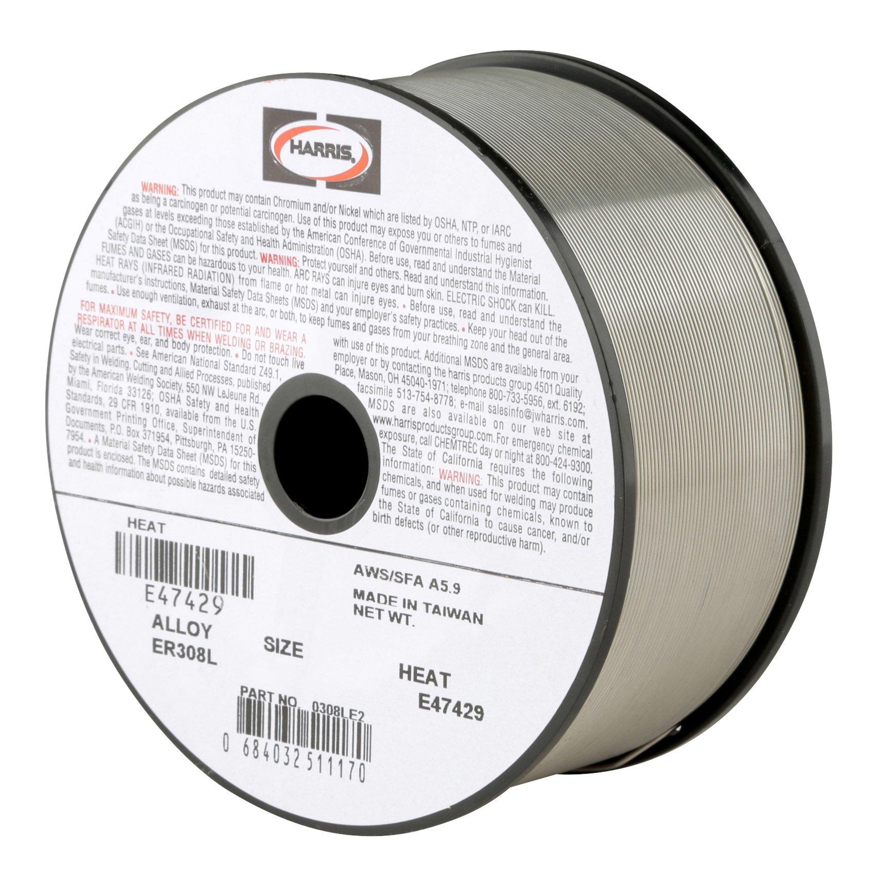 Harris 0308LE5 308L Welding Wire, Stainless Steel Spool, 0.030'' x 10 lb.