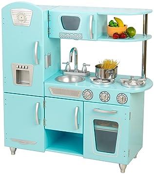 kidkraft 53227 vintage kitchen, blau: amazon.de: spielzeug - Kidkraft Weiße Retro Küche 53208