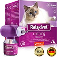 Relaxivet Dogs & Cats Calming Diffuser + Refill - New Improved Anti-Stress Formula Natural Anti…