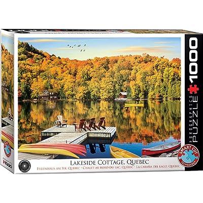 EuroGraphics 5427 Lakeside Cottage, Quebec Puzzle (1000Piece): Toys & Games