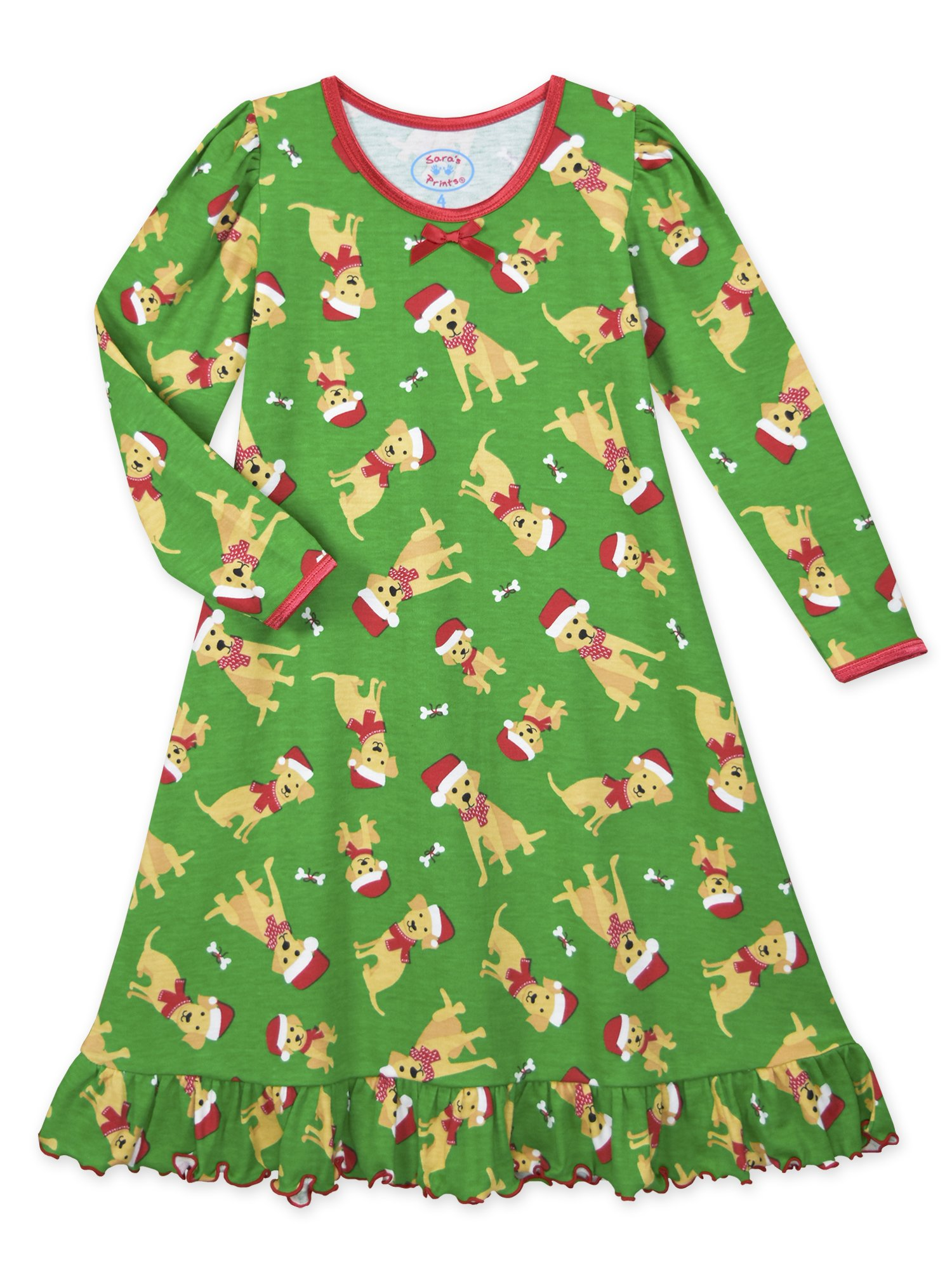 ea80b55edb Galleon - Sara s Prints Girls  Big Whirl And Twirl Long Sleeve Nightgown