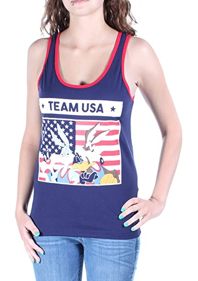 Freeze CMI Inc. Womens Looney Tunes Team USA Tank Top at Amazon Women s  Clothing store  3caea01f16
