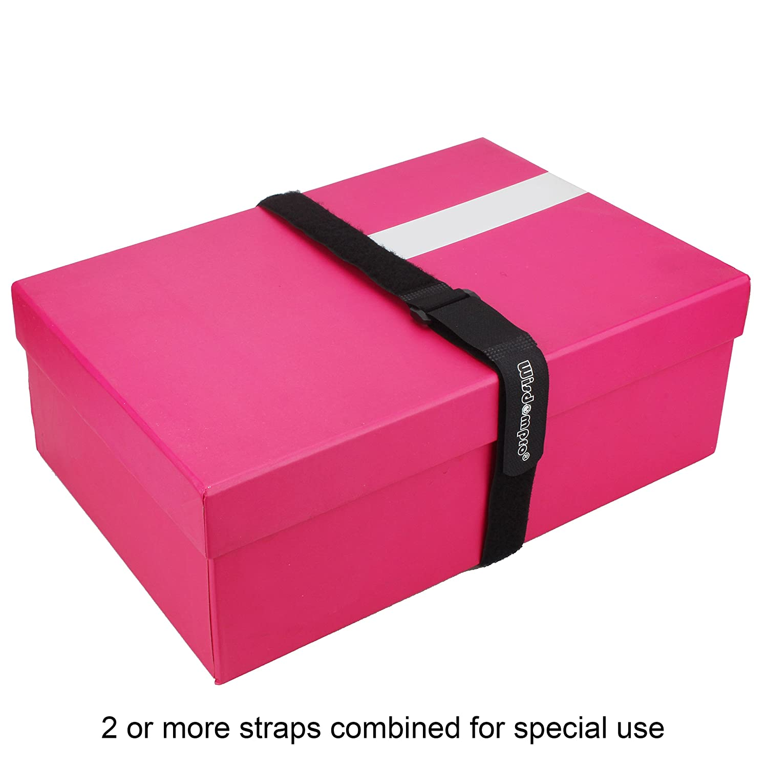 Reusable 0.6 x 6.6Ft Workspace from Tangled Messes of Cords Durable Functional Ties to Keep Your Home 0.6 x 6.6Ft, 4 Roll Hook and Loop Reusable Fastening Cable Tie Down Straps by Wisdompro Office Workspace from Tangled Messes of Cords