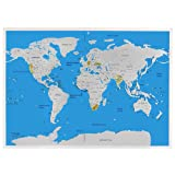 Amazon Price History for:Scratch Off Map Of The World Poster with US States 32.5 x 23in