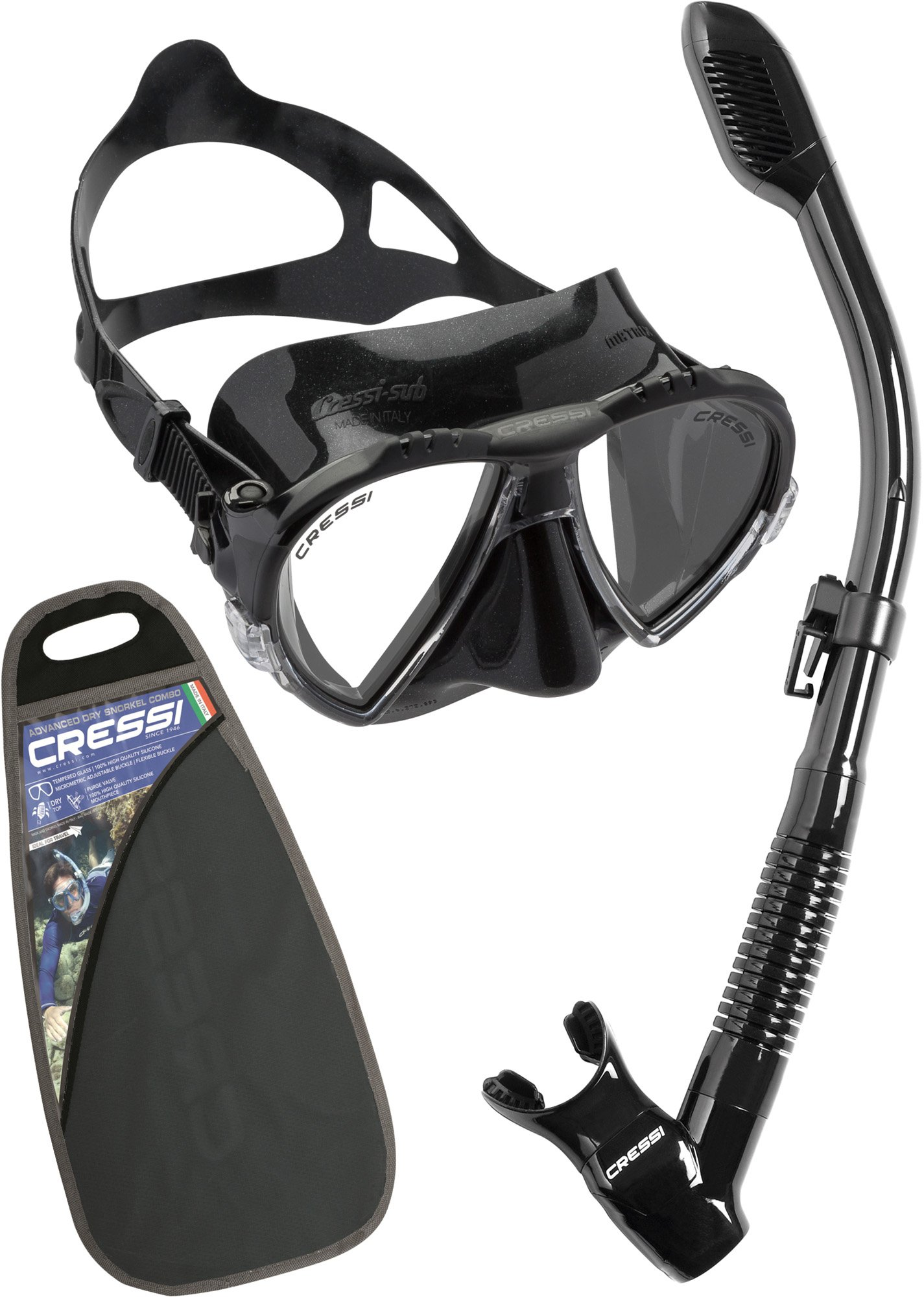 Cressi Matrix & Supernova Dry, black/black by Cressi