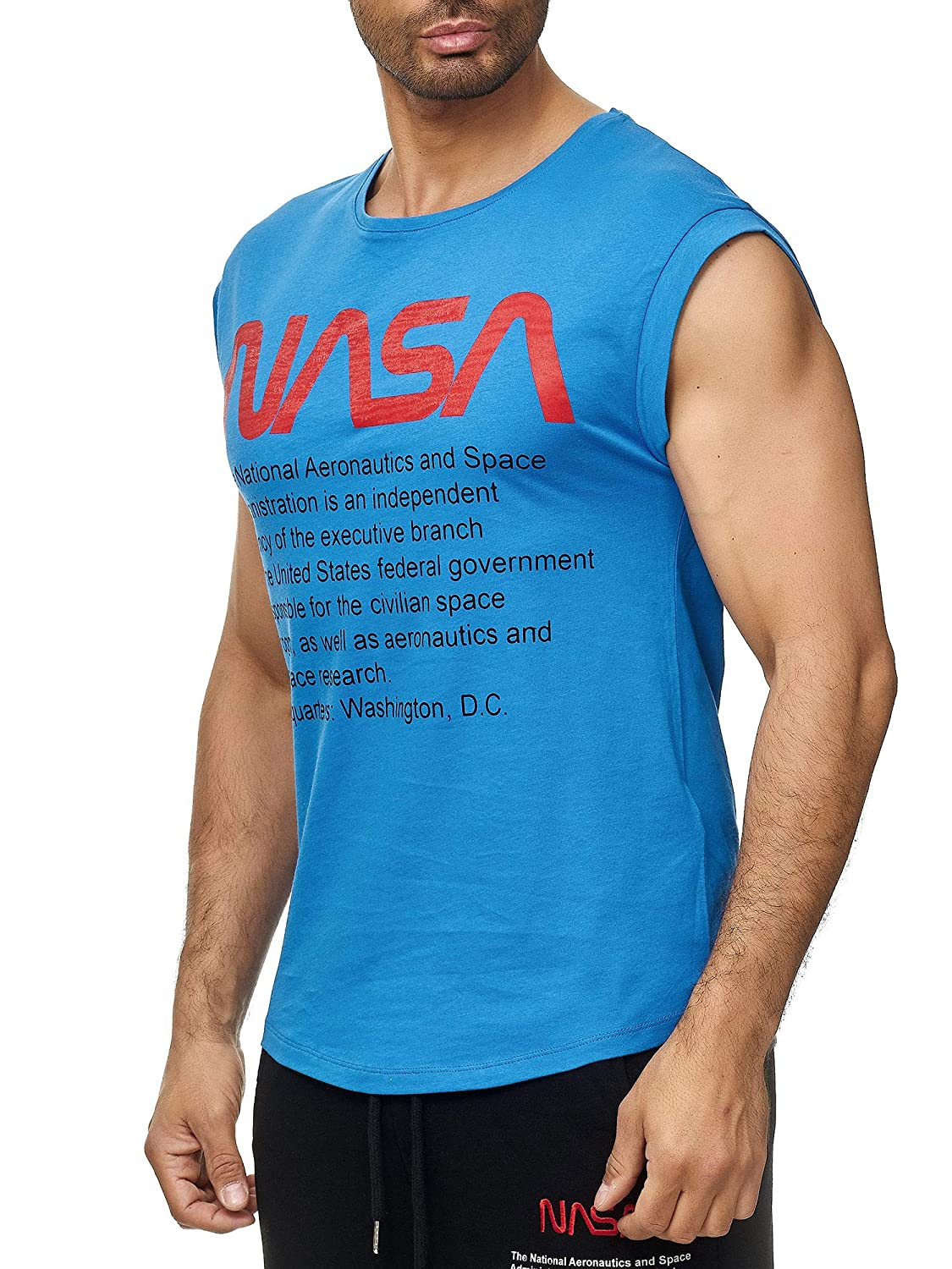 Red Bridge Herren Tank Top T-Shirt NASA Logo USA /Ärmellos Baumwolle M1838