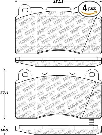 StopTech 301.08810 Premium Brake Pad