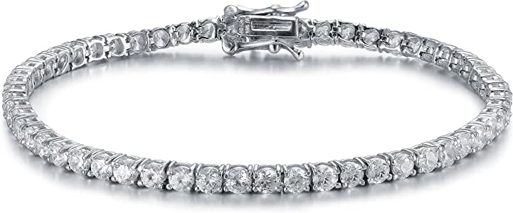 Bridal Classic Round-Cut Cubic Zirconia Eternity Tennis Bracelet By Lux And Glam Jewelry