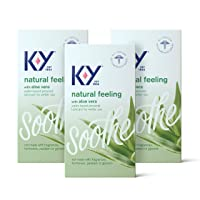 Personal Lubricant, K-Y Natural Feeling with Aloe Vera Sex Lubricant, 5.7 oz, Pack...