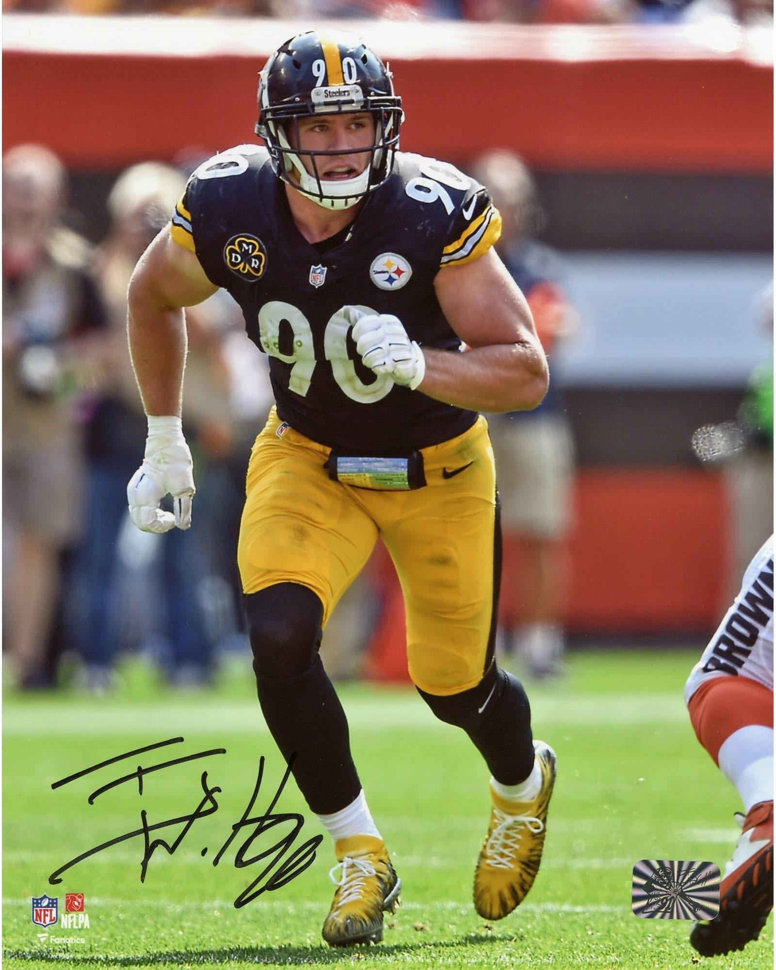 "T.J. Watt Pittsburgh Steelers Autographed 8"" x 10"" Pass Rush Photograph Fanatics Authentic Certified"