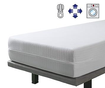 SAVEL - Funda de Colchón elástica y Transpirable | 135 x 190/200cm | Protector