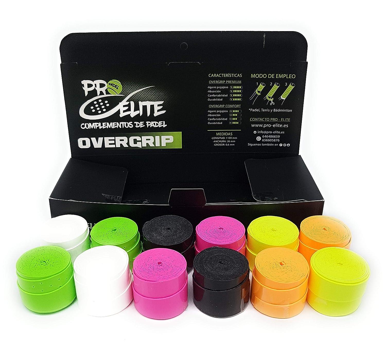 overgrips Pro Elite Premium Liso (Elige Tus Colores). Caja 10+2 unds.: Amazon.es: Deportes y aire libre