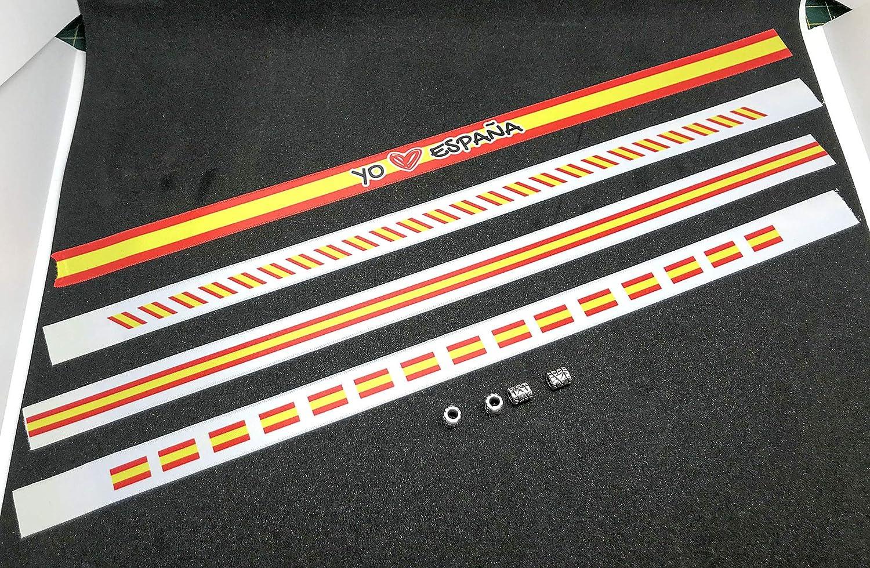Pulseras de tela con la bandera ESPAÑOLA en pack de 4 unidades. Blanco | Pulsera con la BANDERA DE ESPAÑA | Regalo original: Amazon.es: Hogar