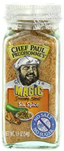 Chef Paul Prudhomme's Magic Seasoning Blends No Salt & No Sugar, Six Spice, 1.9-Ounce