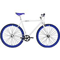 FabricBike Vélo Fixie Blanc, Fixed Gear, Single Speed, Cadre Hi-Ten Acier, 10Kg