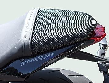 Triumph Street Triple (2013-2018) Cubierta TRIBOSEAT para Asiento Antideslizante Accesorio Personalizado Negro