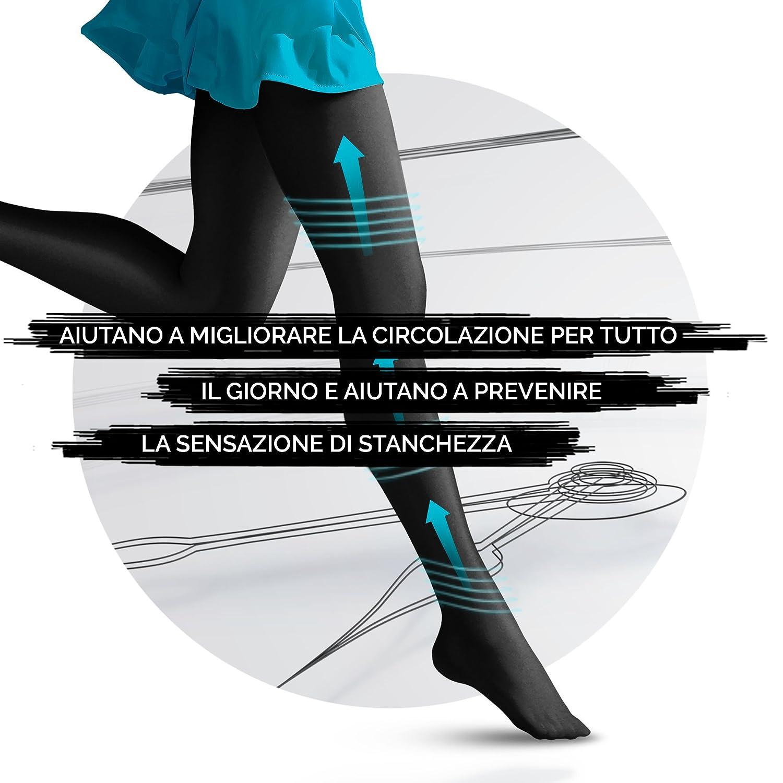 Nude 1 Paio Scholl Light Legs Collant Donna Compressione Graduata 20 Den S